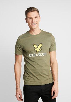 LOGO - T-shirt con stampa - lichen green