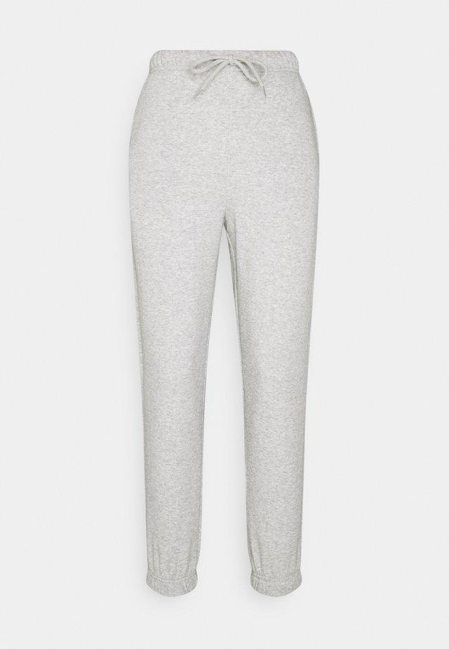 PCCHILLI PANTS - Verryttelyhousut - light grey melange