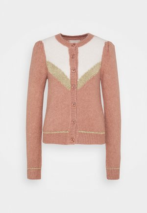 HAIRY GLITTER - Cardigan - vintage pink combo