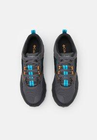 Columbia - FLOW DISTRICT - Hiking shoes - dark grey/cyan blue - 3