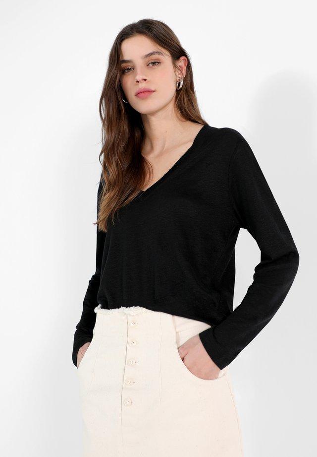 LIVU  - Long sleeved top - black