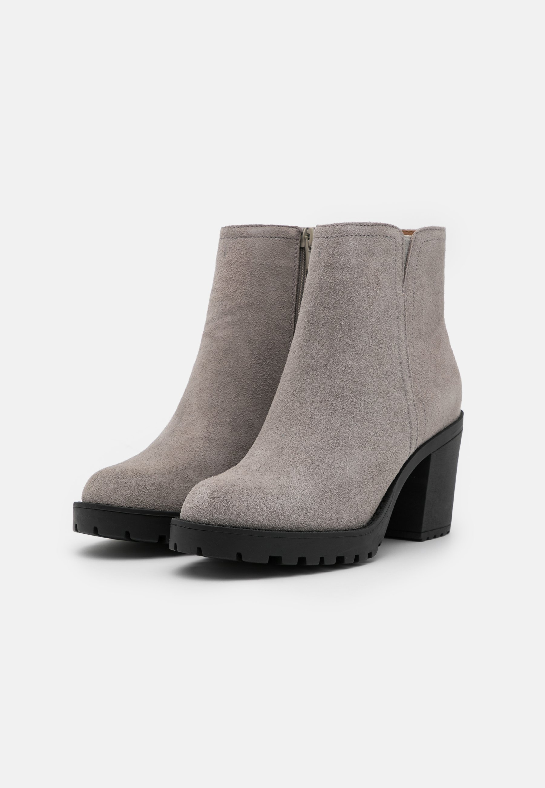 Anna Field LEATHER Ankle Boot grey/grau