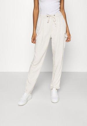 Pantalon cargo - ecru