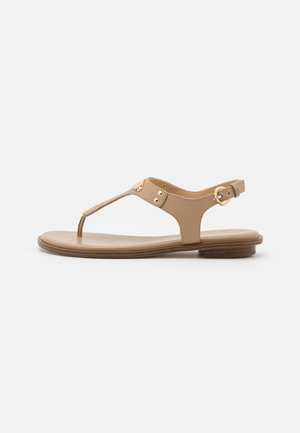 PLATE THONG - Sandály - camel