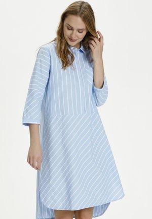 Vestido camisero - cashmere blue