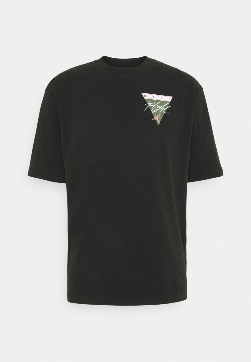 Jordan - WASH - T-shirt imprimé - black/sunset pulse