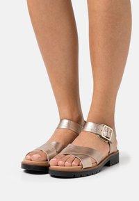 Clarks - ORINOCO STRAP - Sandals - metallic - 0