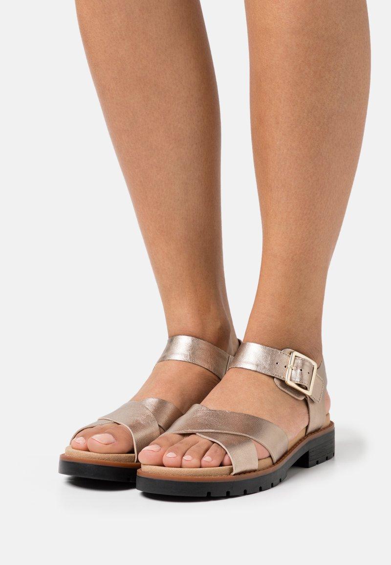 Clarks - ORINOCO STRAP - Sandals - metallic