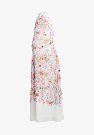 HI NECK MAXI TRAPEZE DRESS - Maxi-jurk - cream border