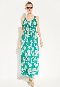 comma - Maxi dress - green big flowers - 1