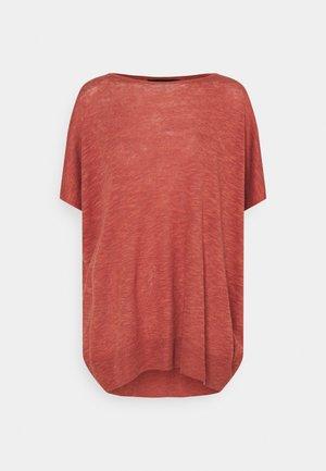 VMFLYSTA OVERSIZE BLOUSE - Basic T-shirt - marsala melange