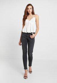Pieces - PCNINA - Jeans Skinny Fit - dark grey denim - 1