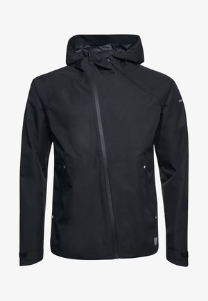 SPORT TRAINING ASYMMETRIC - Waterproof jacket - black