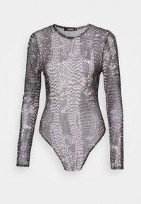 MIXED ANIMAL CREW NECK BODY - Top sdlouhým rukávem - grey