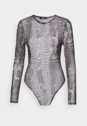 MIXED ANIMAL CREW NECK BODY - Long sleeved top - grey