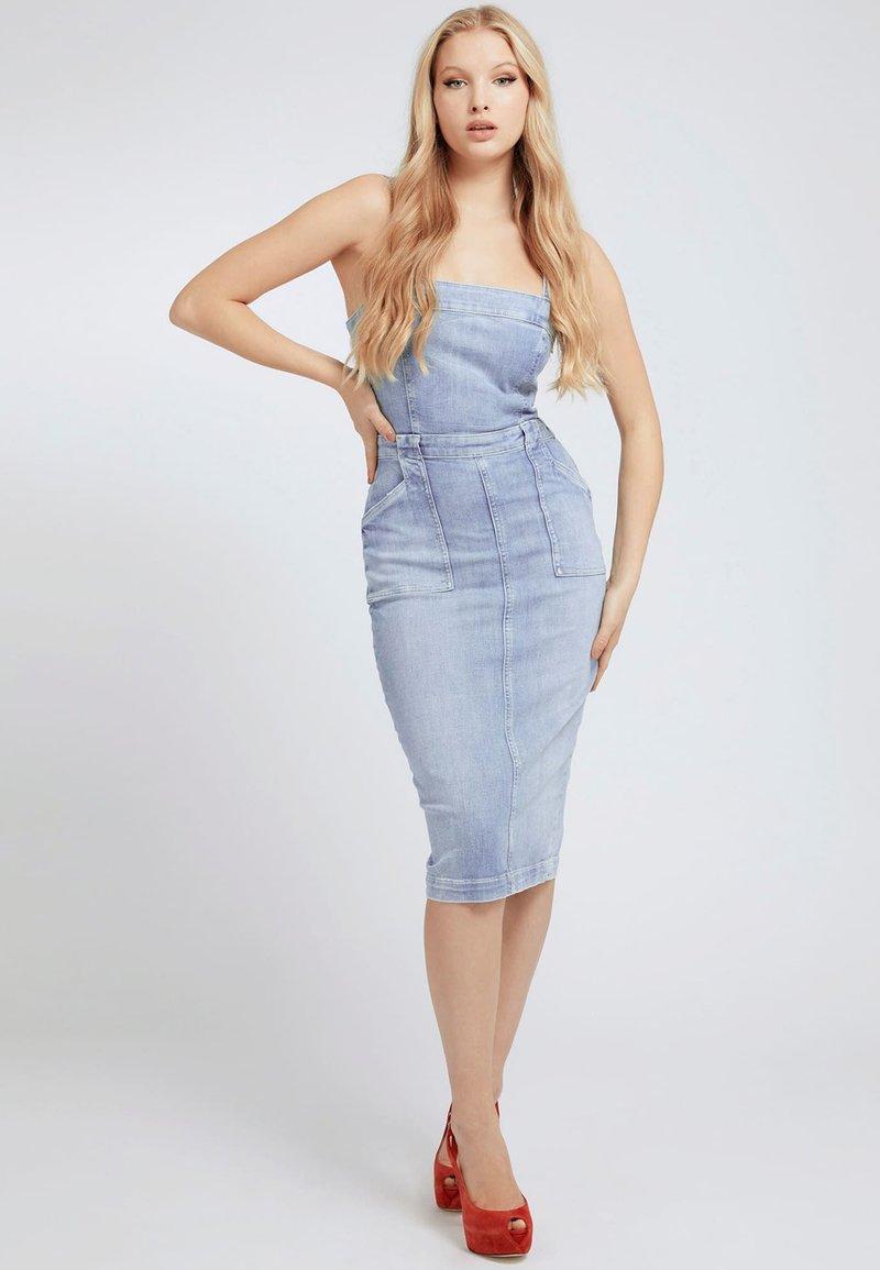Guess - Denim dress - himmelblau