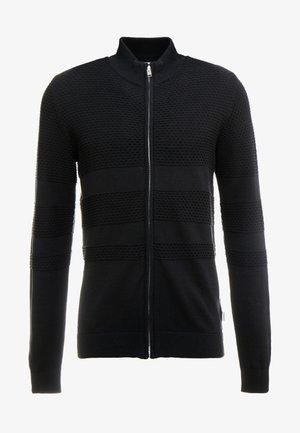 ZIPPED STRUCTURE  - Cardigan - black