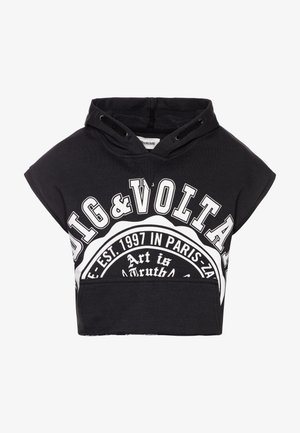 HOODED - Jersey con capucha - charcoal grey