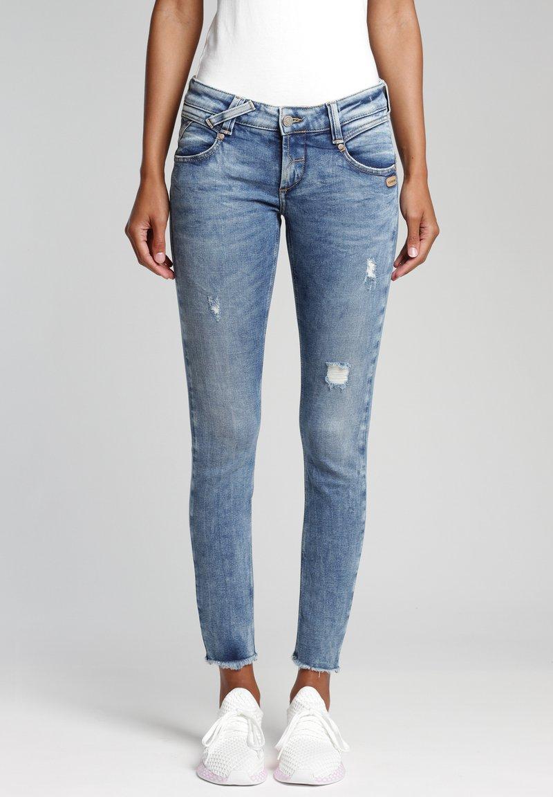 Gang - SKINNY FIT - Jeans Skinny Fit - azur vintage
