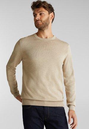 AUS 100% ORGANIC COTTON - Strickpullover - beige