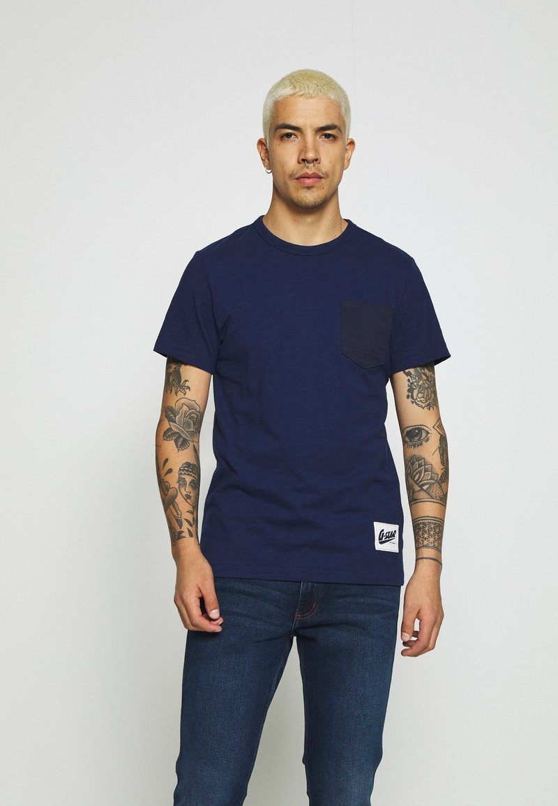 G-Star - CONTRAST PKT R T  - T-shirt print - imperial blue