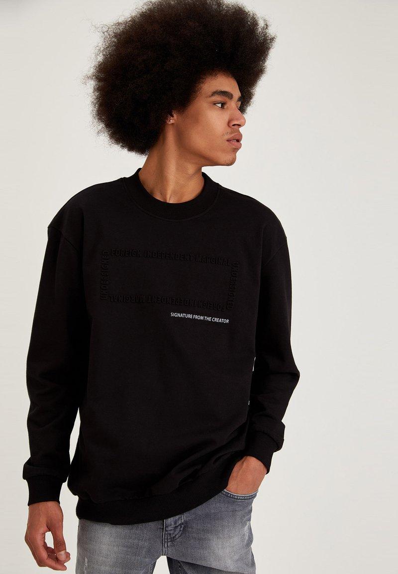 DeFacto - OVERSIZED - Sweatshirt - black