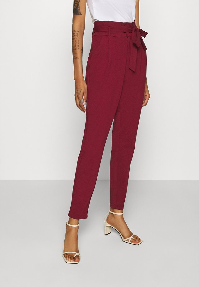 VMEVA LOOSE PAPERBAG PANT - Trousers - cabernet