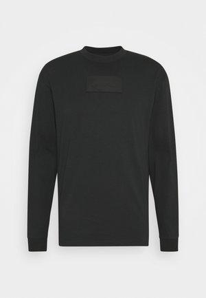 UNISEX SMALL SIGNATURE BOX CREW - Long sleeved top - black