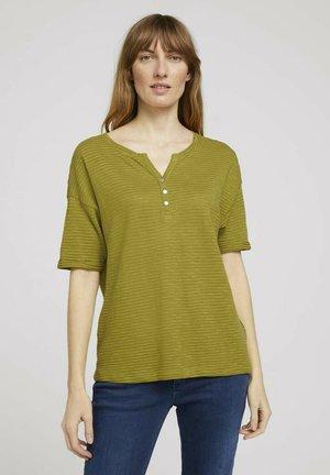 Print T-shirt - gecko green