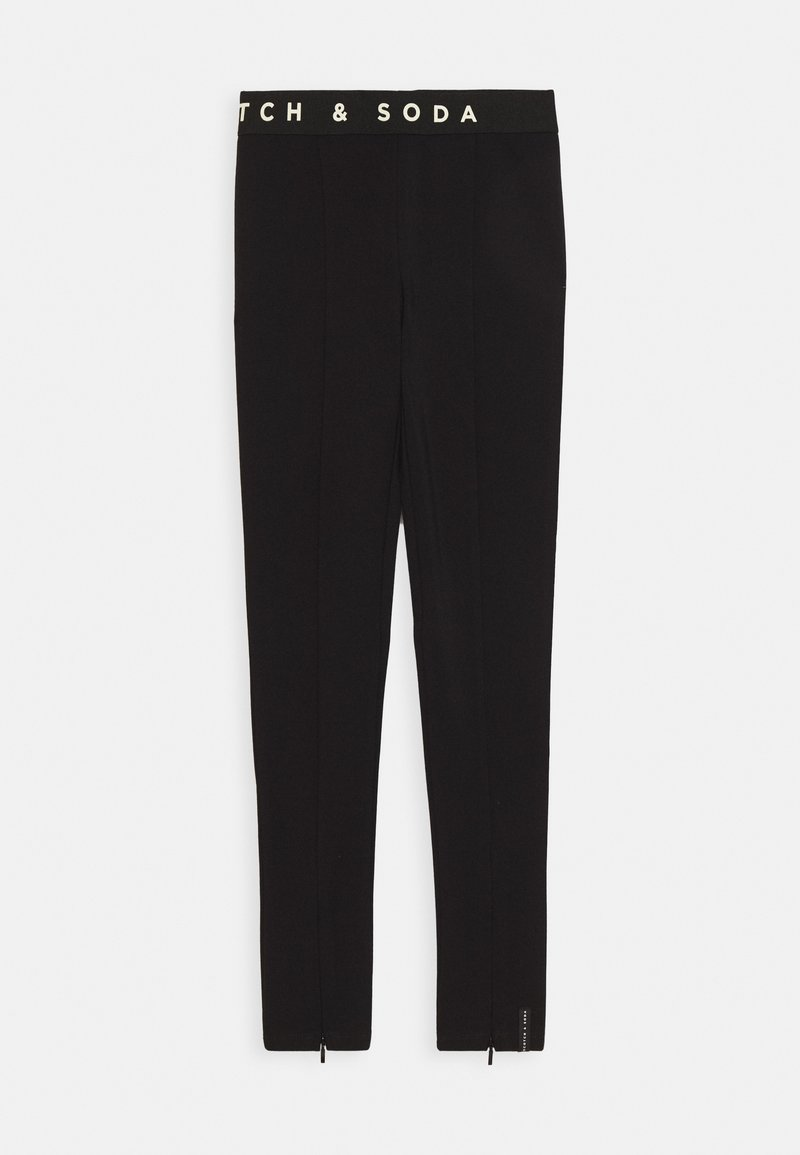 Scotch & Soda - CLUB NOMADE HIGH RISE SPORTY SKINNY PANTS - Leggings - Trousers - black