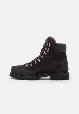 HELSINKI  - Lace-up ankle boots - dark brown