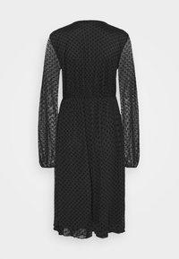 Dorothy Perkins Tall - WRAP DOBBY DRESS - Cocktail dress / Party dress - black - 7