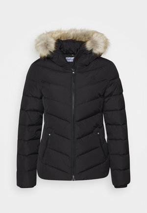SHORT FITTED PUFFER - Dunjakker - black