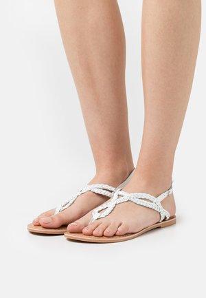 JOEY PLAITED TOE POST - T-bar sandals - white