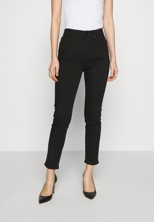 NINA HIGH RISE ANKLE CROP - Skinny džíny - black