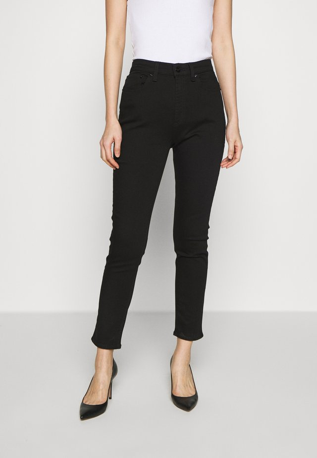 NINA HIGH RISE ANKLE CROP - Jeans Skinny - black