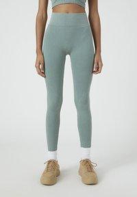 PULL&BEAR - SOUL MOVING - Legging - mottled blue - 0