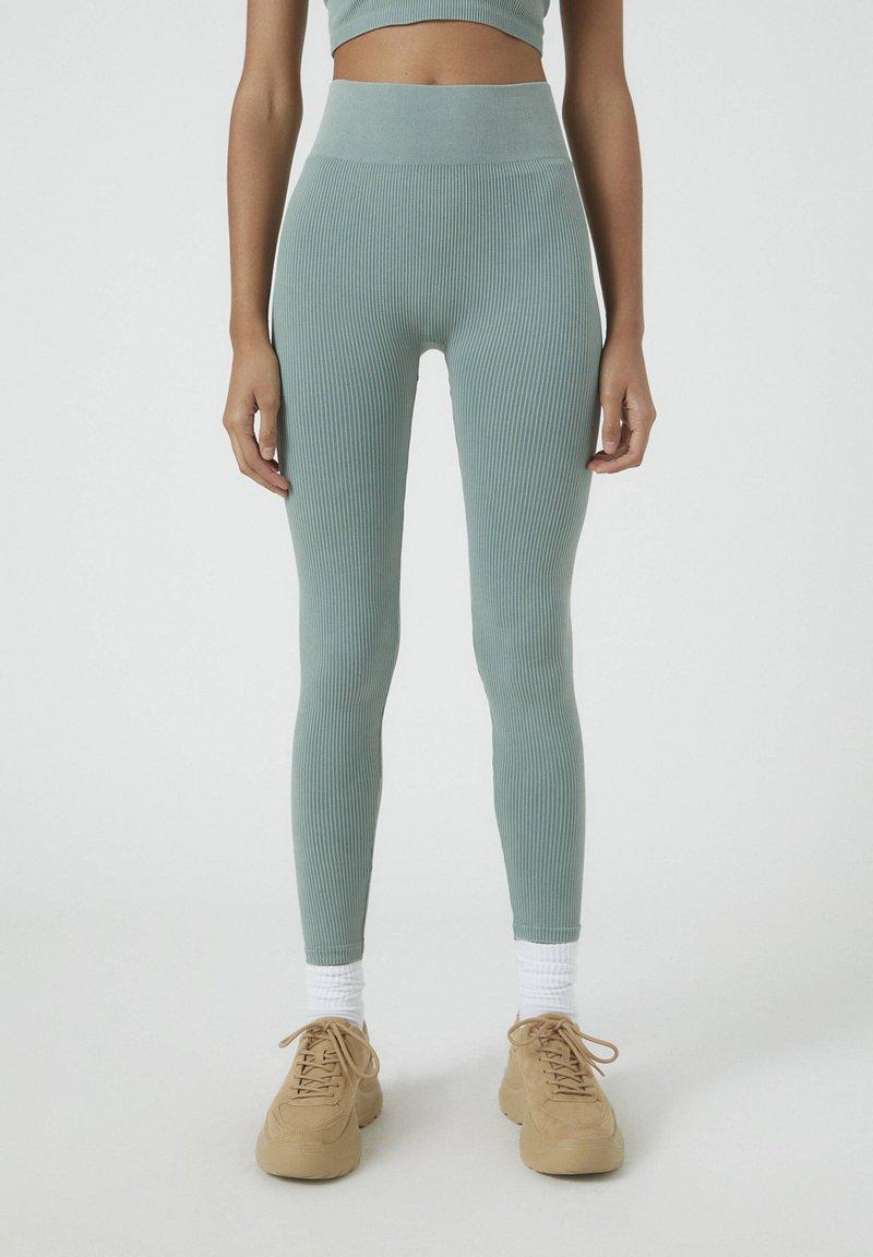PULL&BEAR - SOUL MOVING - Legging - mottled blue