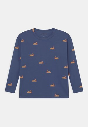 UNISEX - Long sleeved top - soft blue/toffee