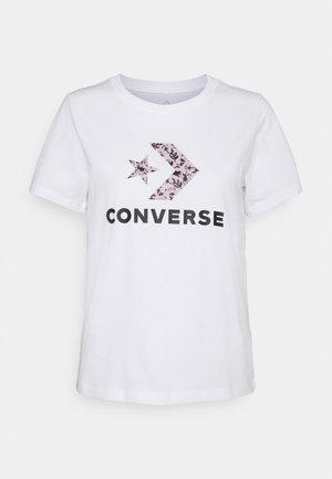 FLORAL STAR CHEVRON GRAPHIC TEE - Print T-shirt - white