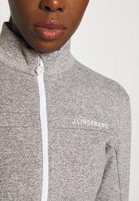 J.LINDEBERG - FLORA MID LAYER - Fleece jacket - stone grey melange - 5