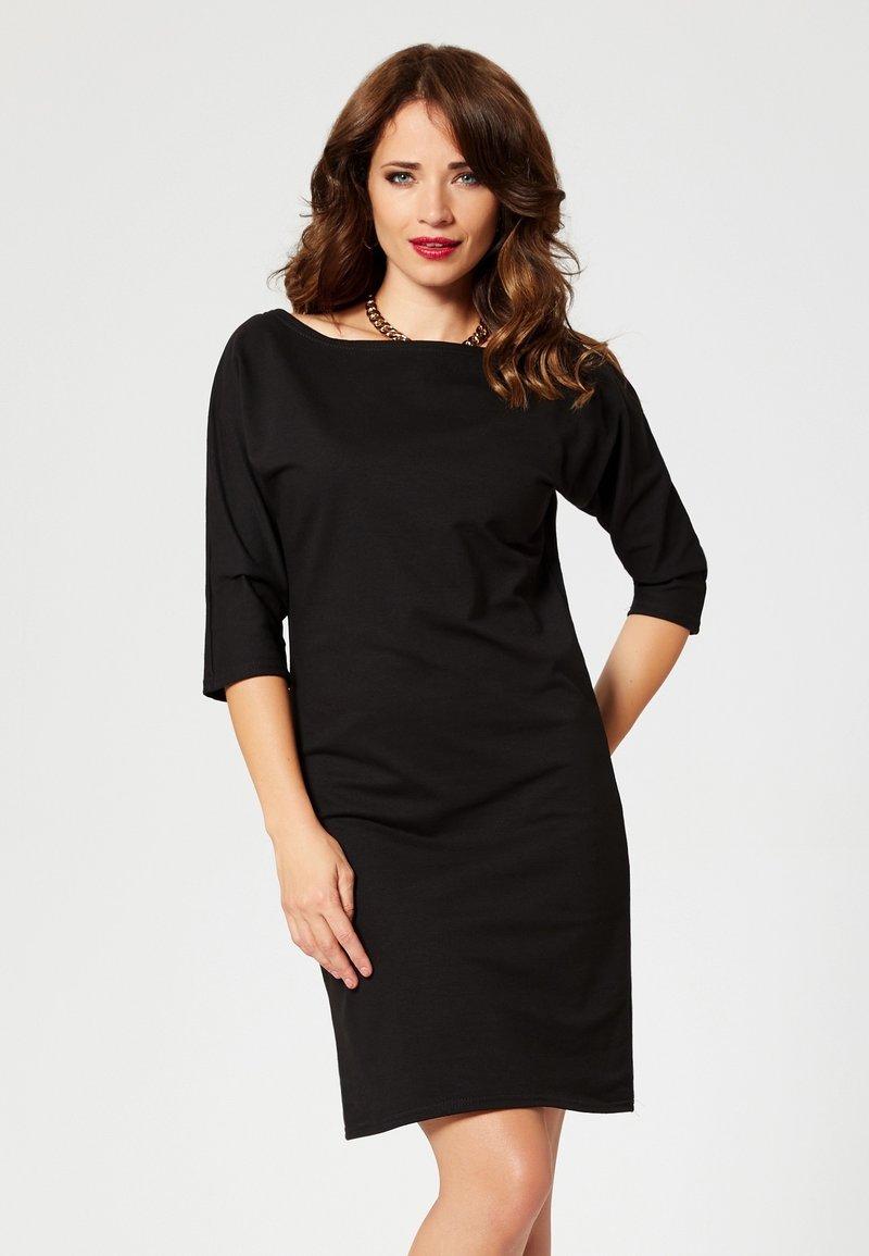 faina - Žerzejové šaty - black