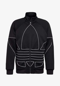 adidas Originals - BIG TREFOIL OUTLINE TRACK TOP - Training jacket - black - 8
