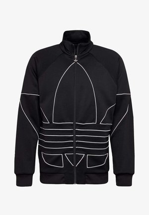 BIG TREFOIL OUTLINE TRACK TOP - Giacca sportiva - black