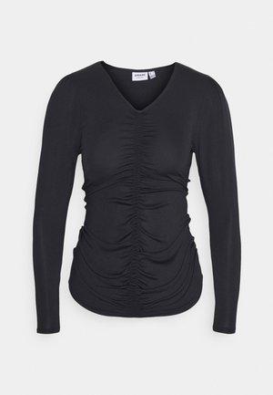 VMNEXT NECK TOP PETITE - Pitkähihainen paita - black