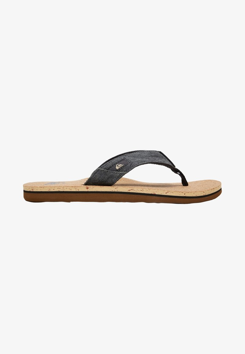 Quiksilver - MOLO ABYSS - T-bar sandals - black/brown