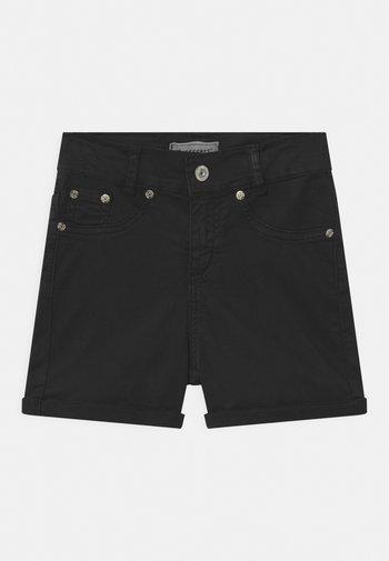 GIRLS HIGH-WAIST - Denim shorts - schwarz reactive