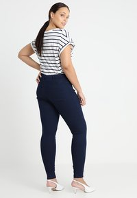 Zizzi - LONG AMY - Slim fit jeans - dark blue - 2