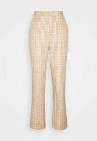 Fashion Union - JAUNE TROUSER - Trousers - beige,white - 0