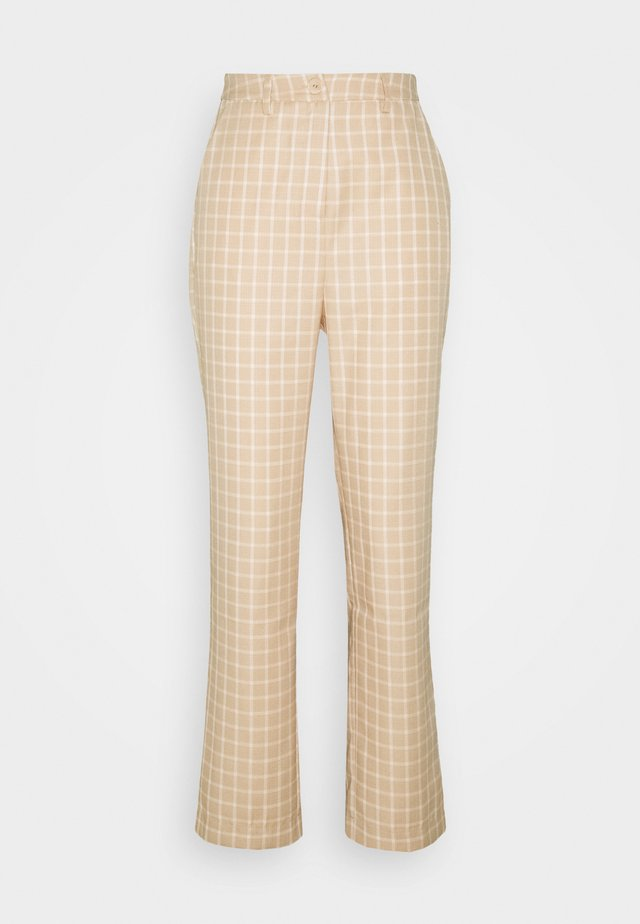 JAUNE TROUSER - Trousers - beige,white